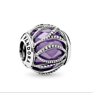Intertwining Radiance, Purple and Clear CZ